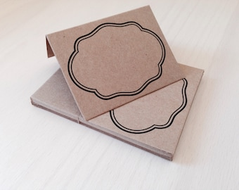 10 KRAFT Place Cards | Rustic Placecards | Tented Place Cards | Kraft Brown Place Cards | Blank Place Cards | Rustic Wedding | Garden Party