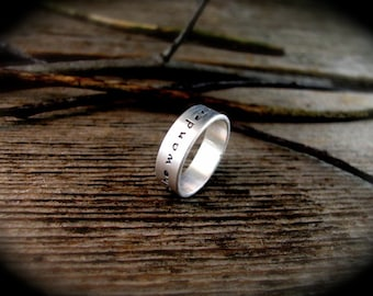 Not All Who Wander Are Lost Ring - Tolkien Ring- Quote Ring - Motivational Ring - Word Ring - Inspirational Ring