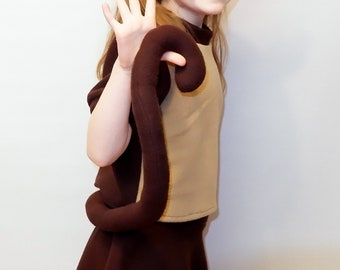 Monkey costume/ Kids monkey Costume /boy monkey costume/girl monkey costume/monkey dress up / handmade costume / Halloween costume