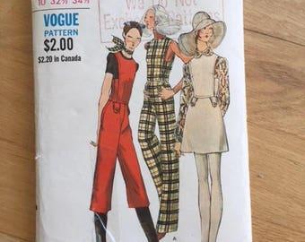 Vintage Vogue 7877 Jumper and Jumpsuit - size 10