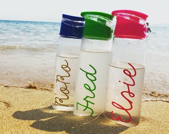 Personlised Water Bottle - Gym Bottle - Holiday Bottle - Back to school - Hen Party - Bridal party - Personalised gift - Gift for Mum