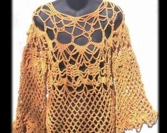 Boho HIPSTER Crochet Tunic Pattern