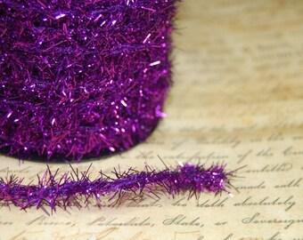 Deep Violet Vintage Style Tinsel Roping Trim 1/3 inch wide