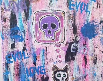 Evol Death - 11x14 - Acrylic Painting - Original Art