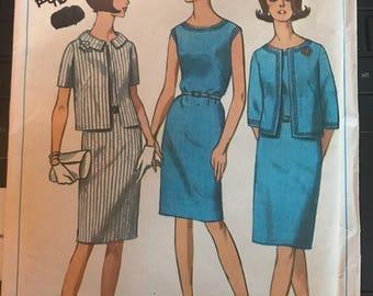 Vintage 60s Simplicity 6461 Suit/Dress Pattern-Size 14 (34-26-36)