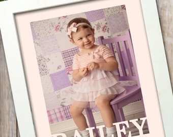personalized frame - Name frame - Shower Gift