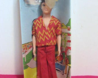 Gary Doll, Vintage Dawn Best Friend, Walks and Bends, MIB Still Sealed in Box by Topper 1970
