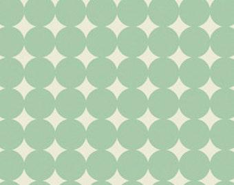Heather Bailey True Colors -Aqua Mod Dot - 1/2 yard cotton quilt fabric 516