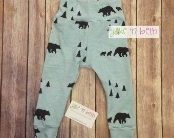 Baby pants, toddler pants, bears