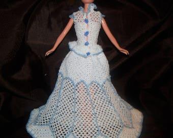 Elegant dress for Barbie doll