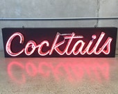 "Vintage ""Cocktails"" Neon Sign - All New Wiring (R7ATEE)"