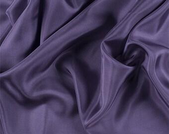 Amethyst Silk Habotai, Fabric By The Yard