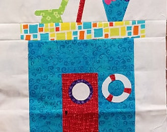 ROW by ROW 2016 Home Sweet Home Quilt Kit - Pattern #2 plus FREE 2016 License Plate