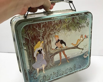 Rare, Very Scarce 1960 Disney Sleeping Beauty Lunch Box General Steel Ware Dragon Version | Maleficent | Prince Philip | Only 5 Exist