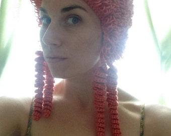 Queen Elizabeth I Wig - Elizabethan Costume Redhead Red Hair Curls Hat Halloween Baby Adult Women Children Girls gift MADE TO ORDER