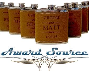 15 Wedding Flask Set Personalized