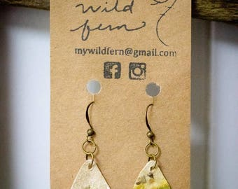 Eucalyptus Lavender Paper Earrings