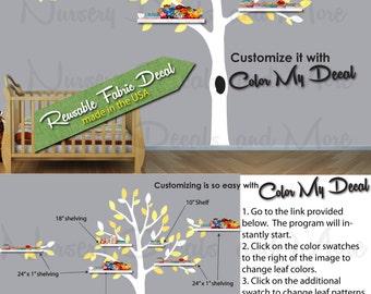Shelf Tree Decal, Shelving Tree Wall Decal, (Expedition Yellow Gray Tree Only) Shelf Tree Wall Decal ETO