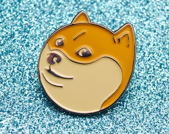 Doge | Enamel Pin Badge | Soft Enamel Badge | Funny Dog Pin Badge