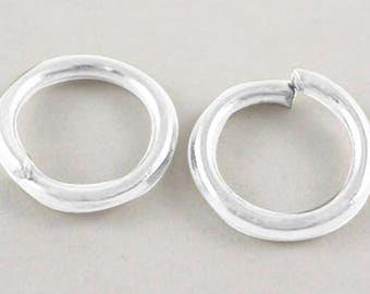 1 lot of 50 jump rings in silver, 6 mm diameter, free shipping to france Metropolitan