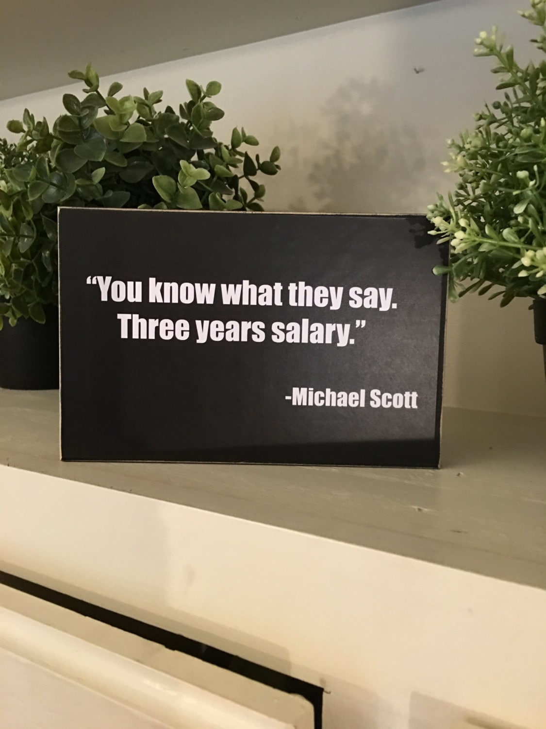 You Know What They Say Quotes You Know What They Say 3 Years Salary Michael Scott Quotethe