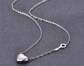 Love, heart and key necklace