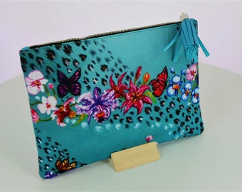 Blue Spring clutch bag