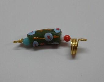 African Trade bead Loc Jewelry