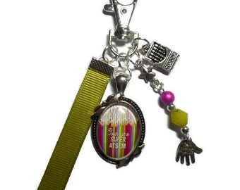 """Bag charm, door keys/home / """"for a great home"""" / year end gift/birthday/party/thanks/holiday / Christmas"""