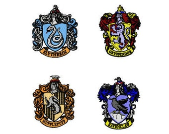 Harry Potter Houses Hogwarts Machine Embroidery File Design 4 x 4 inch hoop - 4 designs