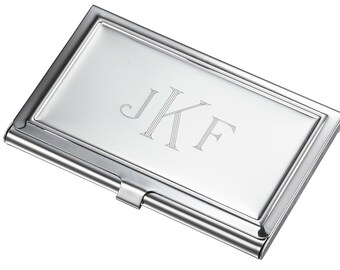 Business card holder etsy personalized business card case stainless steel business card case engraved business card holder reheart Choice Image