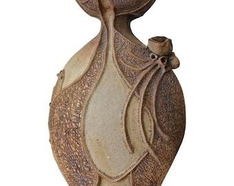 Organic Freeform Ceramic Vessel by Sally Hare Liebold