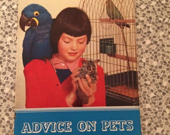 Advice on pets by the Zoological Society of London 1954