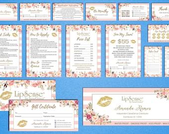 LipSense Marketing Kit, LipSense Marketing Bundle, SeneGence Business Card, LipSense Business Card, Gold Lip Package, LS01