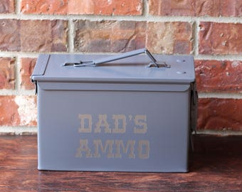 Personalized Ammo Box- 50mm- Father's Day