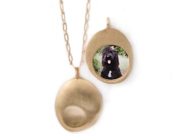 Custom Gold Pet Pendant (L)
