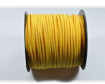 CO87 - 3 metres of yellow suede cord