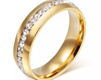 stainless steel  gold rings