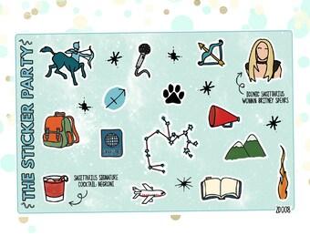 SAGITTARIUS' Favorite Things   Zodiac Sagittarius Planner Stickers