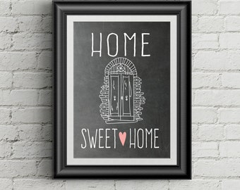 Home Sweet Home Wall Art Print Home Sweet Home Wall Decor Entryway Decor Housewarming Gift