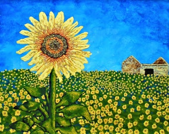 Sunflowers In Provence France (ORIGINAL DIGITAL DOWNLOAD) by Mike Kraus