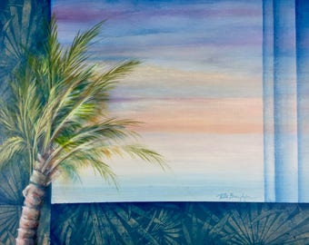 "Original Acrylic Painting - Titled: The Palm - 16"" x 20"""