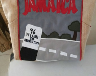 Old Milepost Inspired Tote