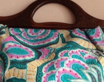 Vintage inspired bag with handles