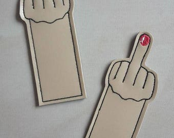 UK Mini middle finger bookmark, place holder, flipping the bird, funny book lover gift, UK
