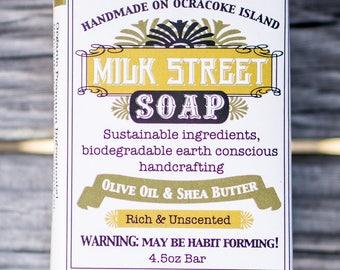 Vegan Soap - Olive Oil Soap - Shea Butter Soap - Olive Oil & Shea Butter - Unscented Soap - Sensitive Skin