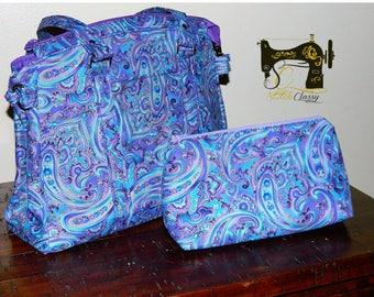 Purple Paisley Satchel Handbag
