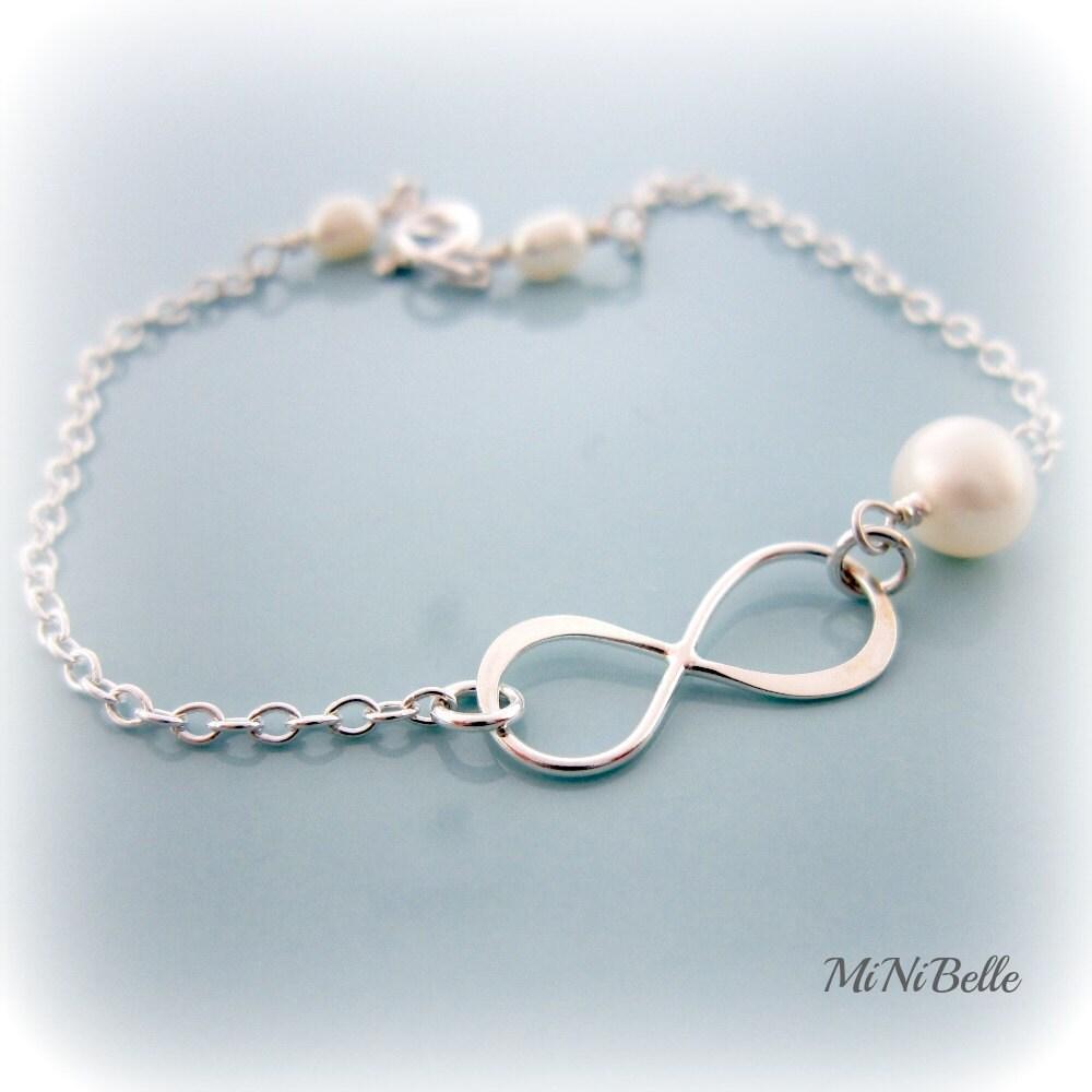 Infinity Bracelet. Simple Bracelet. Bridesmaids Bracelet.