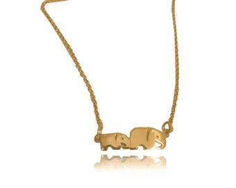 Mom and baby elephant necklace African jewelry African necklace elephant pendant mother elephant necklace mother baby elephant necklace