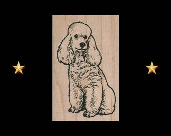 POODLE Rubber Stamp, Dog Rubber Stamp, French Poodle Stamp, Standard Poodle Rubber Stamp, Poodle Party Favor, French Poodle Gifts, Dog Stamp